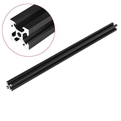 Sonsan Aluminium-Profile, schwarz, 2020 V-Slot Aluminiumprofil-Extrusionsrahmen für CNC-Laser-Gravurmaschine 800mm