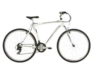 Mizani Zone HT Hybrid Bike - White, 21 Inch