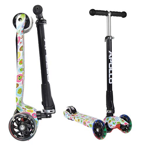 Apollo Fun-Scooter Kids Whiz LED für Kinder ab 3 Jahren, Kinderroller, Kickboard