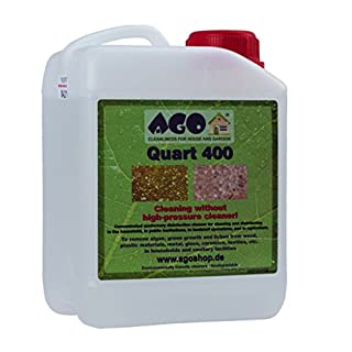 AGO ® Cleanliness in house and garden AGO ® Quart 400 2l Mould Algea & Moss Killer Simply Spray & Walk Away High Concentrate
