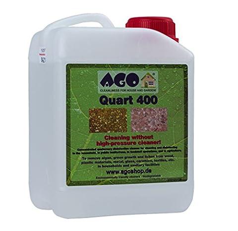 AGO ® Quart 400 2l Mould Algea & Moss Killer Simply Spray & Walk Away High Concentrate