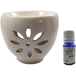 Home Decor - Difusor de aroma eléctrico de cerámica, uso regular, sin contaminación, hecho a mano, buena calidad, color marrón, aromaterapia eléctrica, quemador de aceite de incienso
