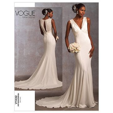 Vogue V1032 Bridal Original Design 1930's Inspired Wedding Dress Sewing Pattern/ Hochzeitssuite...