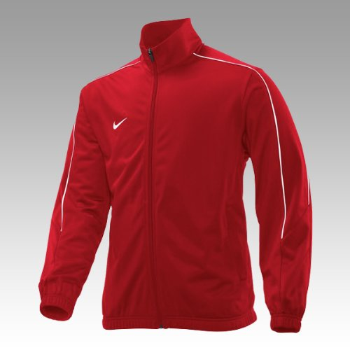 Team Warm Up Jacke (Nike TEAM POLY KNIT WARM UP JACKE Trainingsjacke kombinierbar mit Poly Trainingshose, Farben:grün, Größe:M)