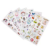 Beebear Garden Clear Unicorn Stickers Sheets Set - Variety Pack of 6
