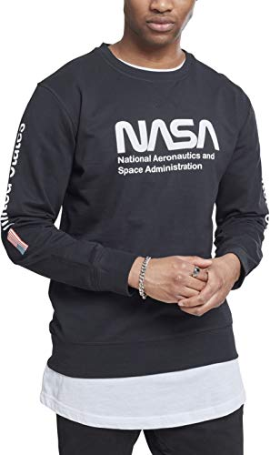 Mister té NASA US Crew Esquina, Unisex, NASA US, Negro, Small