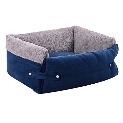 Freesoo 3 in 1 cuccia cane gatto, lettino cane morbito per taglia piccola e media animali domestici 56 * 37 * 19cm blu