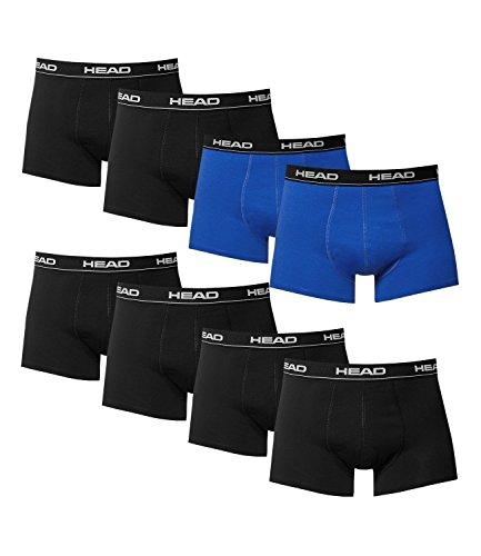 HEAD Herren Boxershorts 841001001 8er Pack 6x black 2x blue
