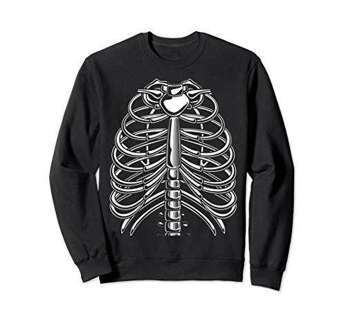 Kostüm Skelett Brustkorb - Halloween Skelett Brustkorb Kostüm Sweatshirt