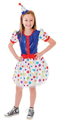 Bristol Novelty CC119 Clown Kleid und Stirnband