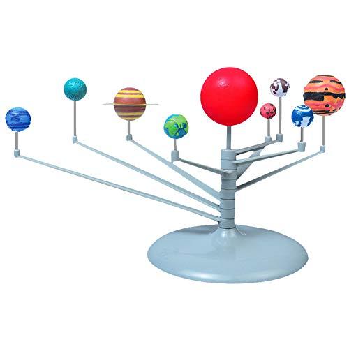 Hztyyier Juguete astronómico para niños, Bola Luminosa astronómica Ensamblaje de Ciencia Experimento científico Juguetes 9 Planetas Juguete del Sistema Solar