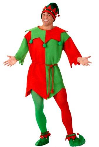 erdbeerloft - Herren Elf Kostüm - Elfentunika Gürtel, rot, grün, (Wald Kostüm Elf)