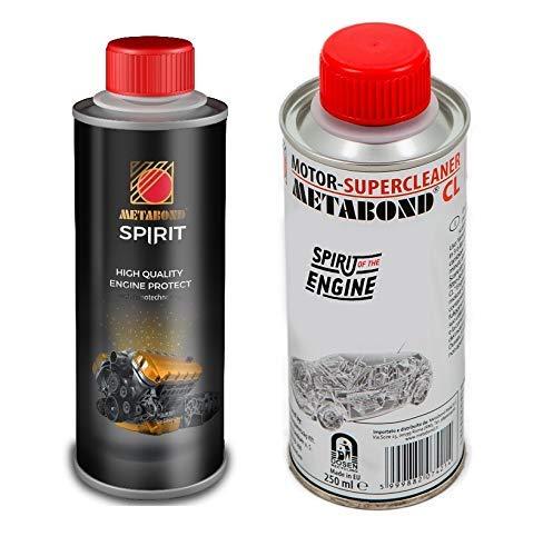 METABOND Kit Trattamento Motore Composto CL per Lavaggio Interno del Motore Spirit Trattamento Olio nanotecnologico antiattrito a Base Est