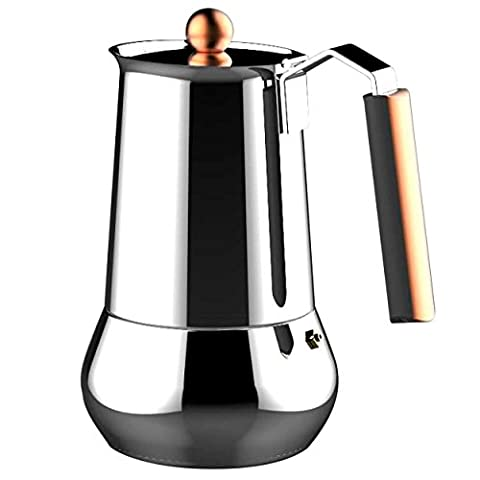 Infinity Chef Copper Coffee Maker, Silver, 10 Cups