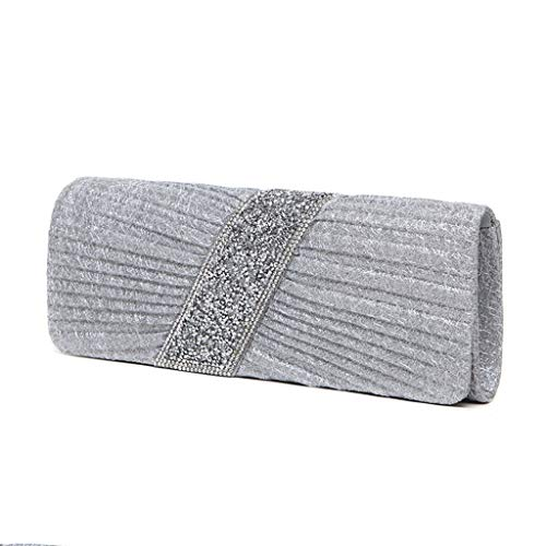 DONGLU Abendtasche Handtasche Non-Woven Damen Clutch Bag Magnetic Buckle geschlossen Bankett...