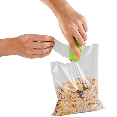 Tüten-Schweißgerät, Plastikschweißgerät Tütenverschließer Schweißgerät Plastikbeutel konservieren Vakuumiergerät 10 x 4 x 5 cm Magnetwerkstoffe, Kunststoff