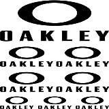 Sticker pegatina adhesivo ,, Oakley ,,autocollants moto casque Stickers Aufkleber (SCHWARZ)
