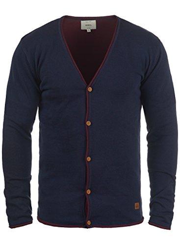 Redefined Rebel Maxen Herren Strickjacke Cardigan Feinstrick Mit V-Ausschnitt und Knopfleiste Aus 100% Baumwolle, Größe:XL, Farbe:Navy