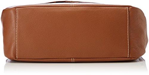 Timberland Tb0m5754, Borsa a Tracolla Donna, 10x25.5x31 cm Beige (Cognac)