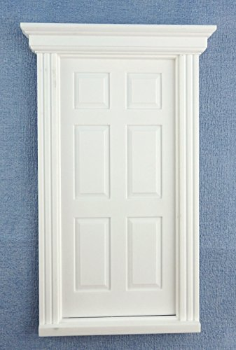 Melody Jane Casa Delle Bambole Plastica Bianca 6 Panel Georgiano Porta 1:12 Scala FAI DA TE Costruttori