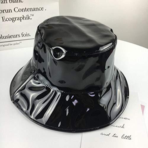 YFMDBZ Leder und Baumwolle solide Bucket Hat Fisherman Hat Outdoor-Reisemütze Faltbare Sun Cap Hüte für Männer und Frauen (Mesh Hat Bucket Baumwolle)