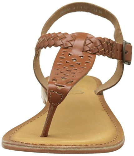 Kaporal Ely, Sandales Bout Ouvert Femme Marron (Camel)