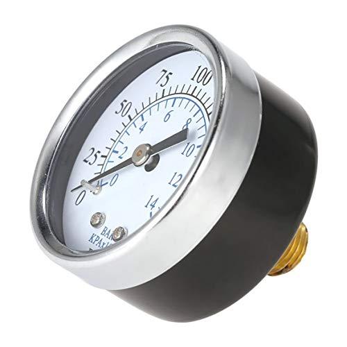 【Bonne année ❤~】 Compresseur d'air universel de pression d'air hydraulique 0-200 psi 0-14 Bar arrière Mnt 1/4 pouce NPT double échelle illustrée
