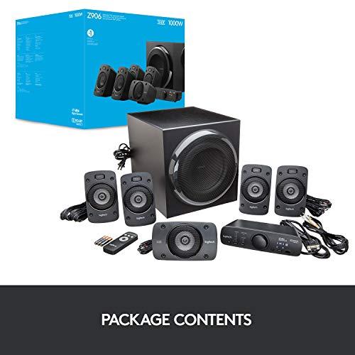 Logitech Z906 3D Stereo Lautsprecher THX (Dolby 5.1 Surround Sound und 500Watt) schwarz - 10