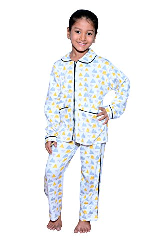 BRATS N BEAUTY- GIRL'S MULTI COLOUR & PRINT 100 % HOSIREY NIGHT SUIT SIZE FIT FOR 10-12 YEAR KIDS