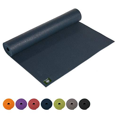 Lotus Design Yogamatte PVC ÖKOTEX Standard, extra lang, rutschfest, für Anfänger und Fortgeschrittene, Yogamatten für Yoga, Pilates, Sport und Gymnastik, 200x60 cm, 3 mm, Made in Germany