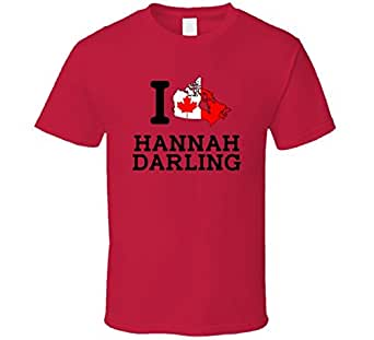 I Love Hannah Darling Canada Rugby Olympics T Shirt Medium