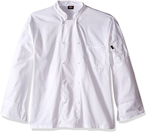 Dickies Chef Men's Unisex Cool Breeze Long-Sleeve Coat, White, 5X-Large -