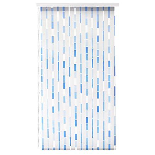 Design Duschrollo Blaues Mosaik | viele Größen | schnelltrocknend, Halbtransparent