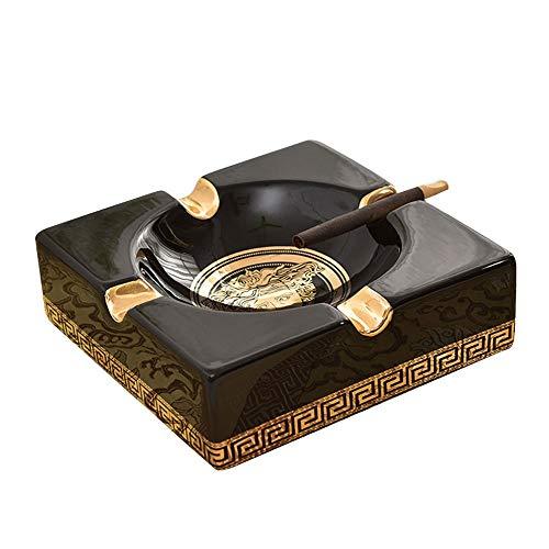 JMM Großer keramischer Aschenbecher für den privaten europäischen Luxus-Zigarre-Aschenbecher für Zigarettenspitzen oder dekorative Geschenke