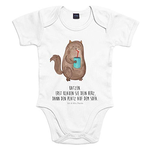 Mr. & Mrs. Panda Strampler, Babysuit, 18-24 Monate Baby Body Katze Dose mit Spruch - Farbe Transparent