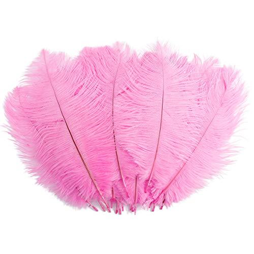 20 Stk. Straußenfeder Strauß Feder 25-30cm Rosa Baby Pink Hochzeit Party Fest Kostüm Deko Rosa Strauß