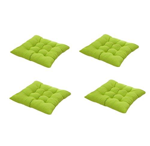 Cuscino sedia 40x40,worsendy set da 4 cuscini da sedia trapuntati,morbido cuscino per sedia cuscino sedia cucina da giardino 40 x 40 x 8 cm,disponibile in tanti colori diversi (verde)