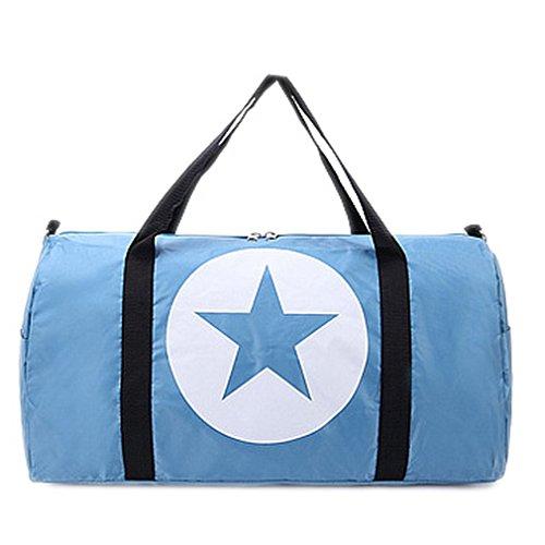 BACKSPORT Damen Herren Klassische Sporttasche Matchbag Reisetasche Henkel Tasche Club Sport Reise Wasserdicht #C Blau