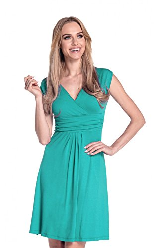 Glamour Empire Damen Skater Freizeitkleid Sommer Kleid Partykleid Gr. 36-46 256 Teal
