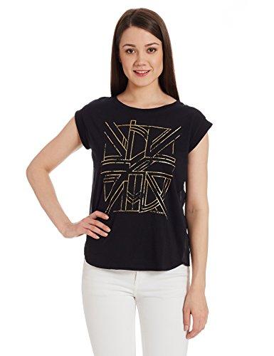 Pepe-Jeans-Womens-Solid-T-Shirt-PIL0001544-4BlackMedium