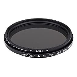 Andoer® 52mm Nd Fader Neutral Density Adjustable Nd2 To Nd400 Variable Filter For Canon Nikon Dslr Camera