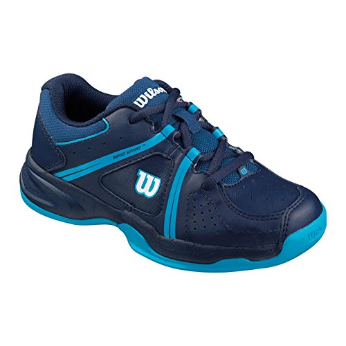 Wilson ENVY JR, Unisex-Kinder Tennisschuhe, Mehrfarbig (DEEP WATER/NAVY WILSON/SCUBA BLUE), 34 EU (1.5 Kinder UK)
