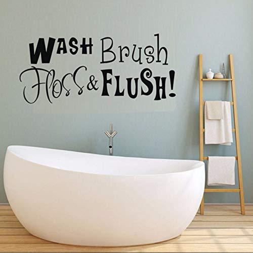 Pbldb 57X25 Cm Waschbürste Schlauch Flush Markierte Wort Wandaufkleber Für Küche Wanddekor Vinyl Wasserdichte Aufkleber Poster Dekoration Zubehör