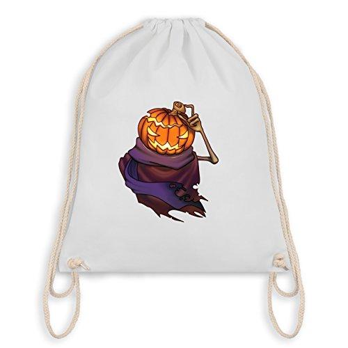 Halloween - Kürbiskopf - Turnbeutel I Gym Bag Weiß