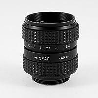 "DealMux 25 mm F1.4 C-Mount 1/2"" CCTV TV Camera Lens Colour negro Canon E..."