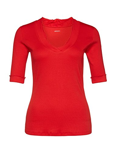 Marc Cain Essentials Damen T-Shirt +E4859J50 Rot (scarlet 272)