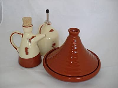 Small Honey Brown Terracotta Tagine by Graupera
