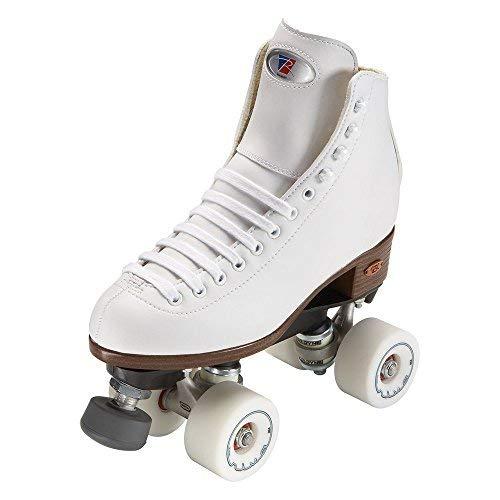 Unbekannt Riedell Skates Angel Junior Artistic Quad Rollschuhe, Mädchen, weiß, Size 10