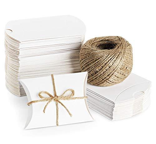 iß Süßigkeiten Karton Hochzeit Gastgeschenke Geschenkboxen 7x9cm mit Juteschnur 60M für Süßigkeiten Schmuck Einladung Geschenk Party Fest ()