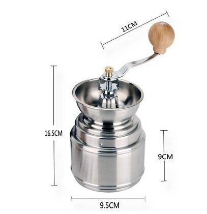 KLXEB Kaffeemühle Bean Machine Edelstahl Mahlwerk Maschine Hand Kaffee Mühle Haushalt Pfeffer Coffee Bean Maschine Manuell Schleifmaschine